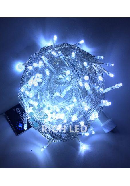 Светодиодная гирлянда нить 100Led, 220В, белая