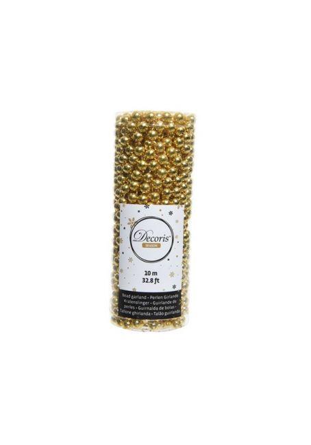 Бусы пластиковые золотые 8 мм, 10м