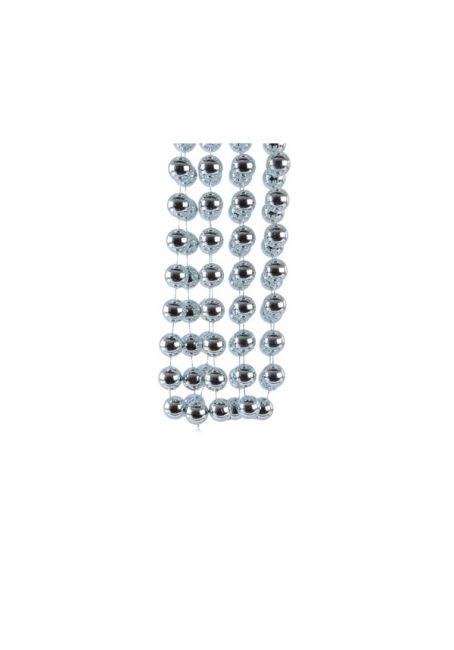 Бусы пластиковые голубые 20 мм, 2.7 м