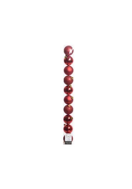 Набор пластиковых шаров красные 6см, 10шт
