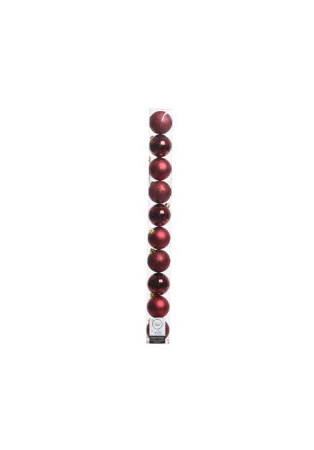 Набор пластиковых шаров бордовые 6см, 10шт