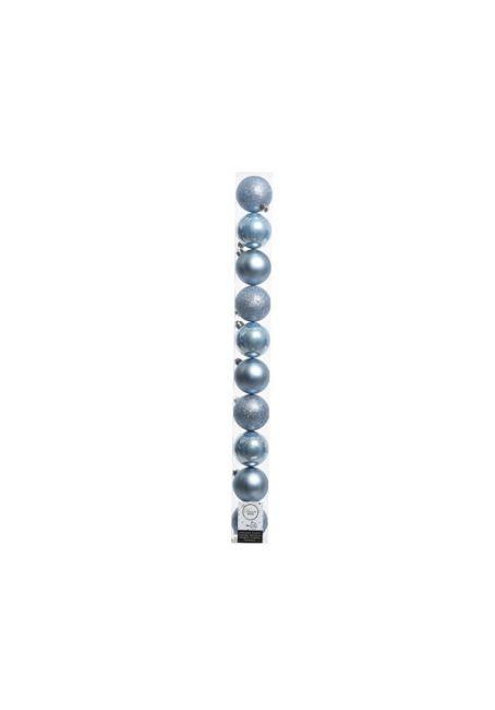 Набор пластиковых шаров голубые 6см, 10шт