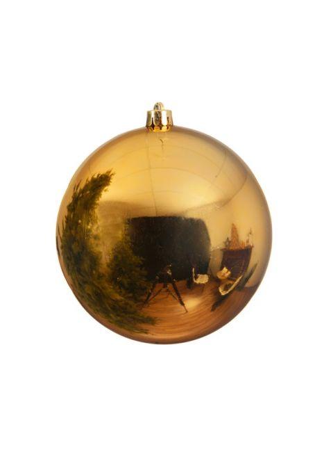 Пластиковый шар 140 мм, золотой