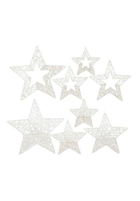 Набор звездочек перламутровый 40-20 см
