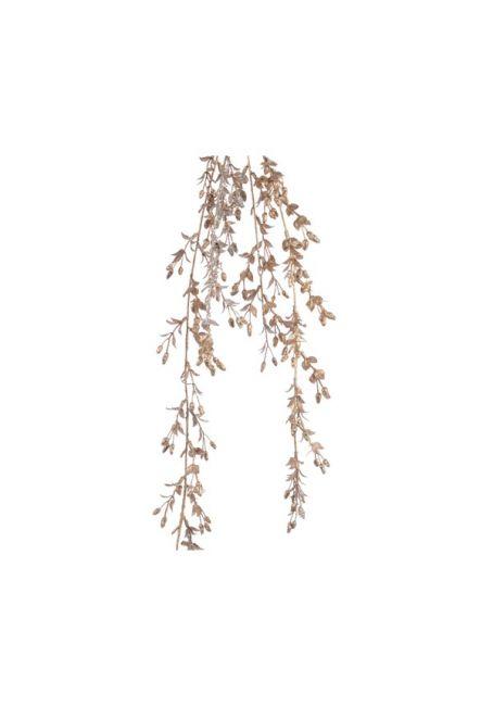 """Ветка с искусственными цветами """"Ива"""", золото"""