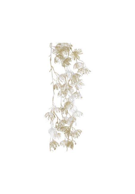 """Ветка с искусственными цветами """"Ива"""", белая"""