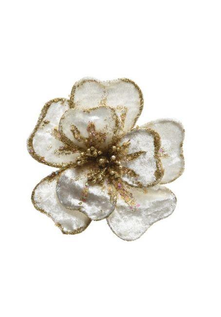 Цветок бархатный, белый