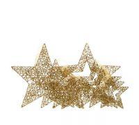 Набор звездочек золотой 40-20 см
