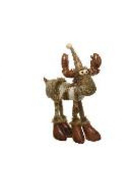 """Мягкая игрушка """"Олень"""" с блестками, 16x20x51 см"""