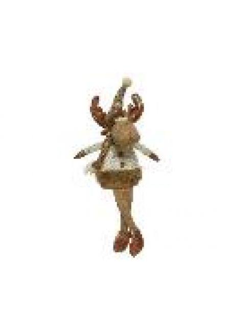 """Мягкая игрушка """"Лось"""" с болтающимися ногами, 10x11x29 см"""