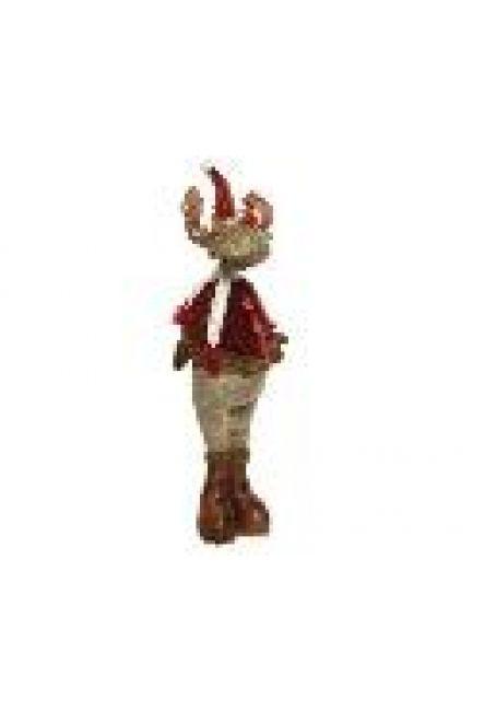 """Мягкая игрушка """"Олень"""" с кожаной одеждой(№2), 20x26x96 см"""