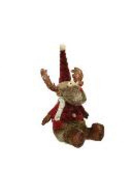 """Мягкая игрушка """"Олень"""" с кожаной одеждой(№2), 18x20x44 см"""