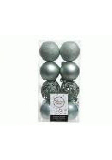 Набор пластиковых шаров 6 см, 16 шт (эвкалиптовый)