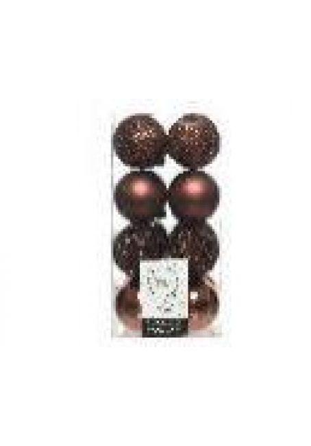 Набор пластиковых шаров 6 см, 16 шт (деревянная роза)