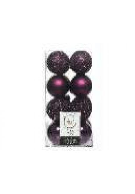Набор пластиковых шаров 6 см, 16 шт (королевский пурпурный)