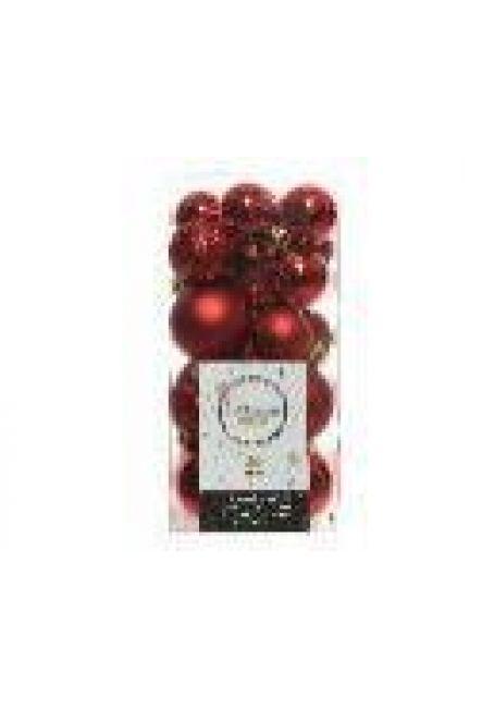 Набор пластиковых шаров 3-4 см, 26 шт (бордовый)