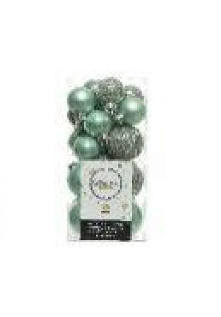 Набор пластиковых шаров 3-4 см, 26 шт (эвкалиптовый)