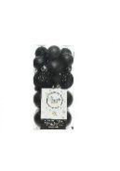 Набор пластиковых шаров 3-4 см, 26 шт (черный)