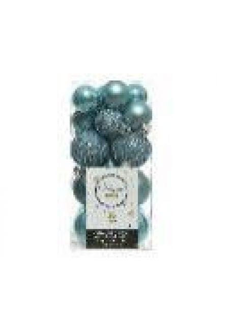 Набор пластиковых шаров 3-4 см, 26 шт (холодный голубой)