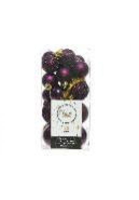 Набор пластиковых шаров 3-4 см, 26 шт (королевский пурпурный)