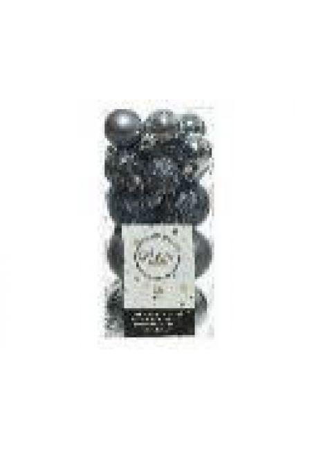 Набор пластиковых шаров 3-4 см, 26 шт (голубой камень)