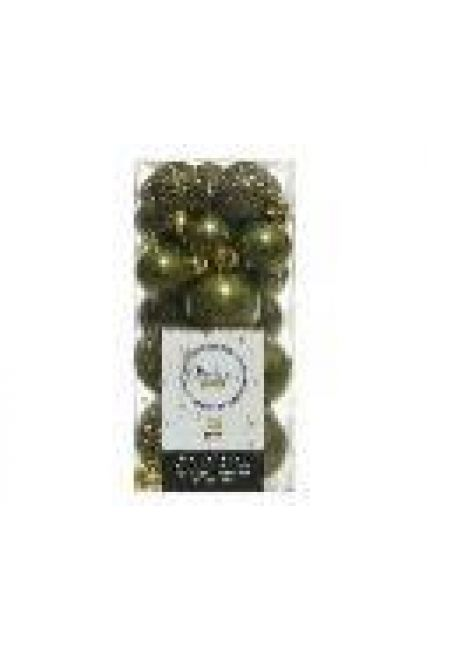 Набор пластиковых шаров 3-4 см, 26 шт (зеленый мох)