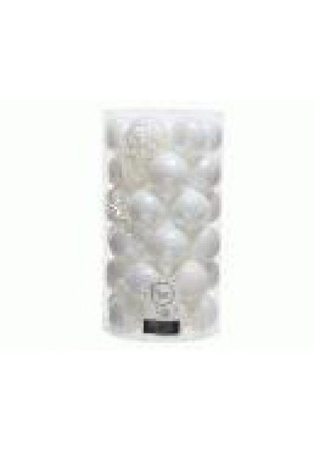 Набор пластиковых шаров 6 см, 37 шт (белый)