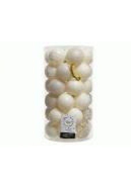 Набор пластиковых шаров 6 см, 37 шт (белая шерсть)