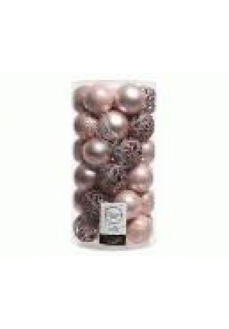 Набор пластиковых шаров 6 см, 37 шт (розовый)