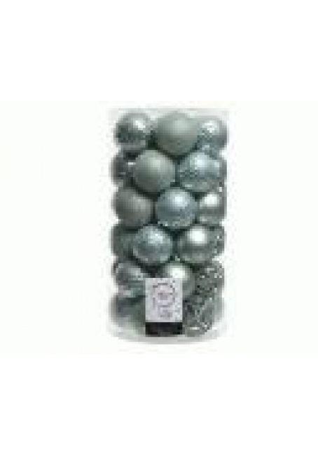 Набор пластиковых шаров 6 см, 37 шт (эвкалиптовый)