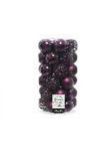 Набор пластиковых шаров 6 см, 37 шт (королевский пурпурный)
