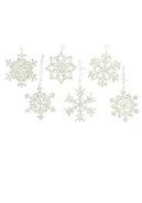 """Подвеска пластиковая """"Снежинка"""" с блестками, 10 см"""