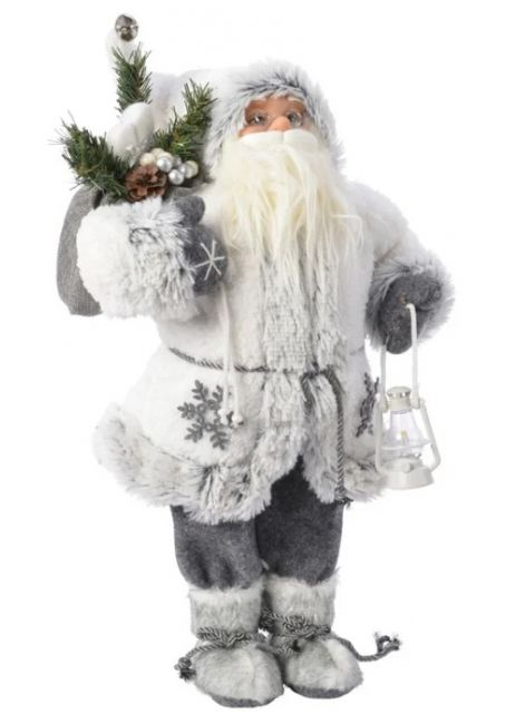 Санта под Елку, 30 см (белый)